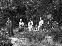 Bild tagen i Frostbrunnsdalen före 1914.